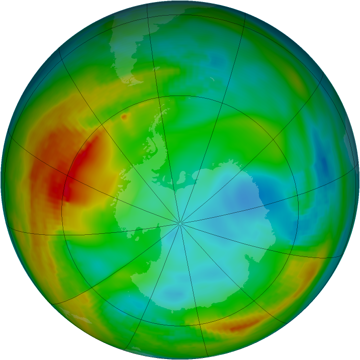 Antarctic ozone map for 11 July 1979