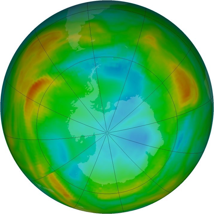 Antarctic ozone map for 27 July 1979