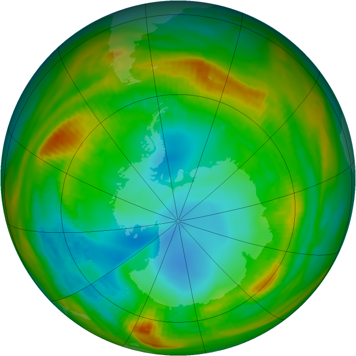 Antarctic ozone map for 31 July 1979