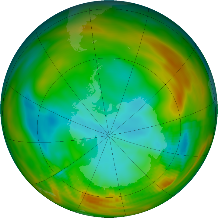 Antarctic ozone map for 04 August 1979
