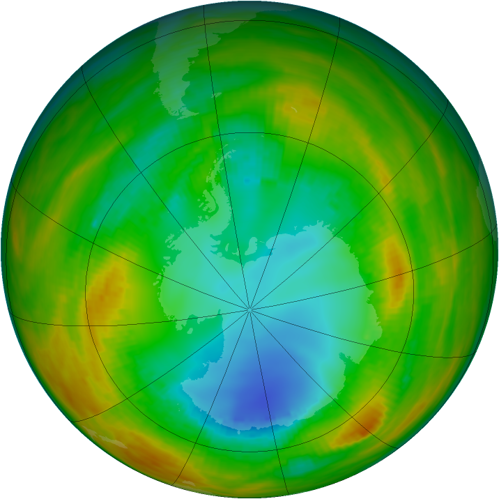 Antarctic ozone map for 11 August 1979