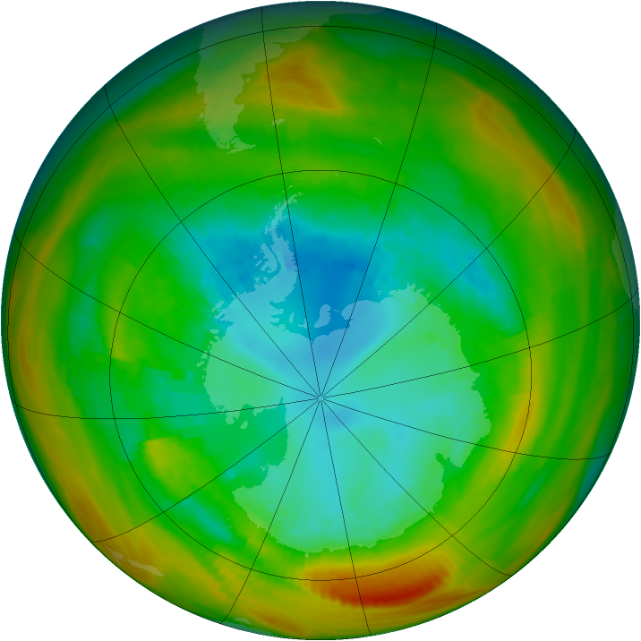 Antarctic ozone map for 26 August 1979
