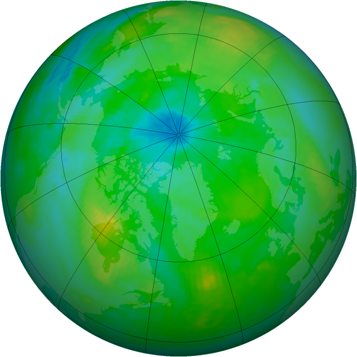 Arctic ozone map for 30 August 1979