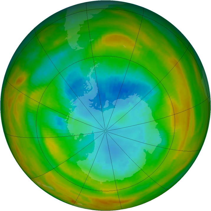 Antarctic ozone map for 05 September 1979