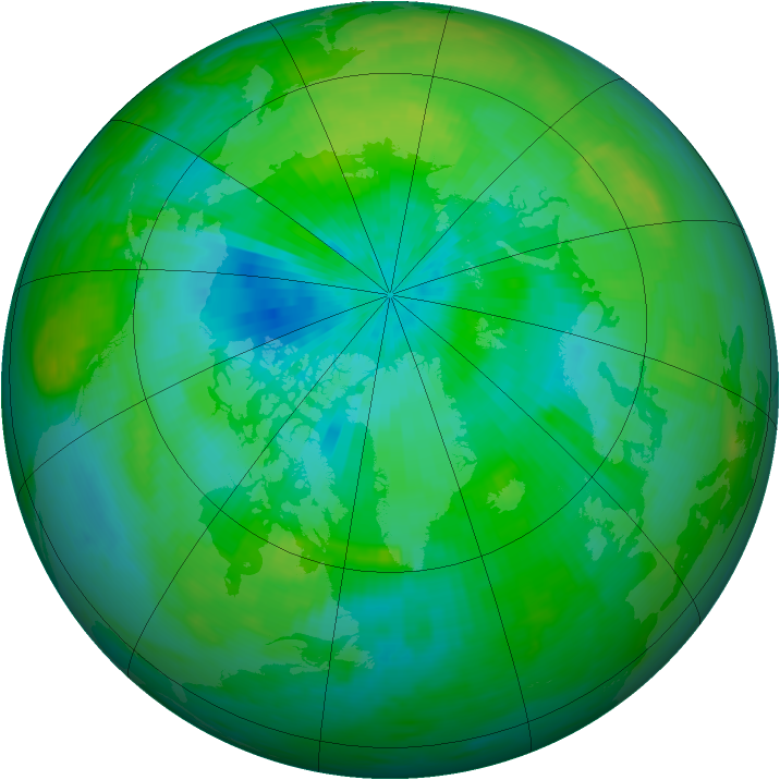 Arctic ozone map for 07 September 1979