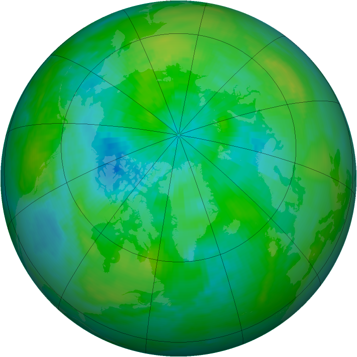 Arctic ozone map for 08 September 1979