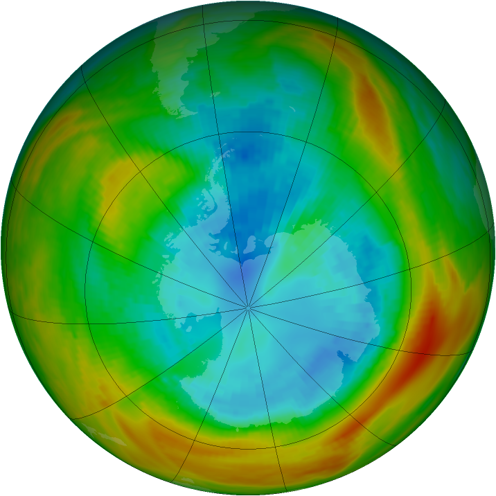 Antarctic ozone map for 08 September 1979