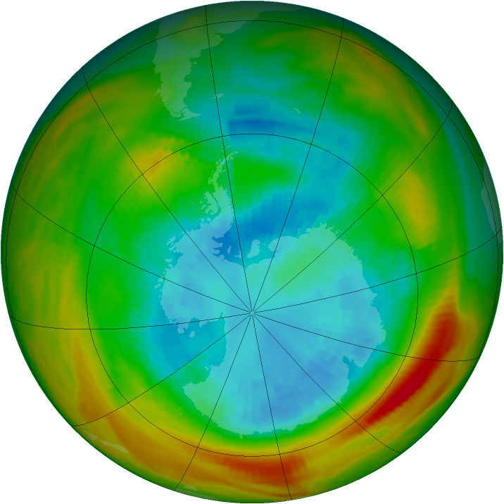 Antarctic ozone map for 09 September 1979
