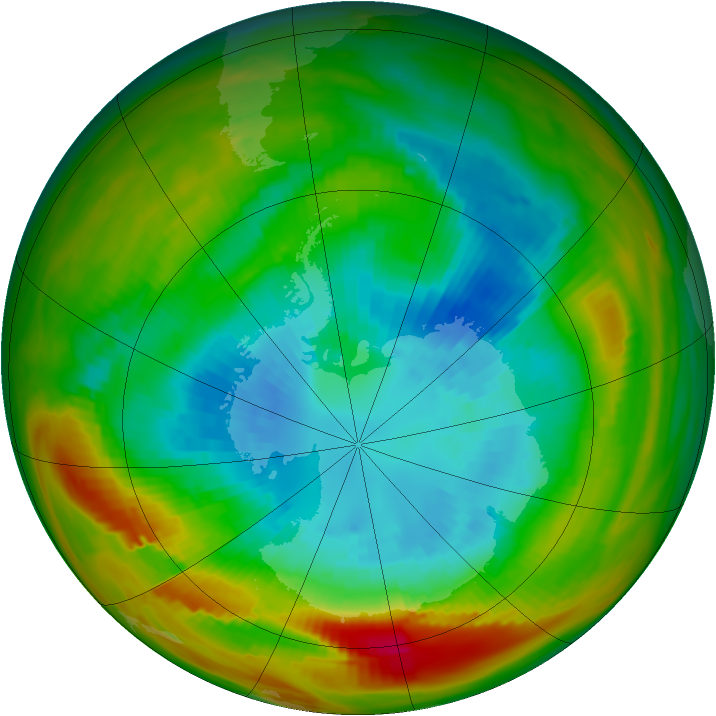 Antarctic ozone map for 11 September 1979