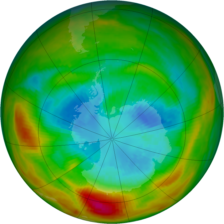 Antarctic ozone map for 12 September 1979