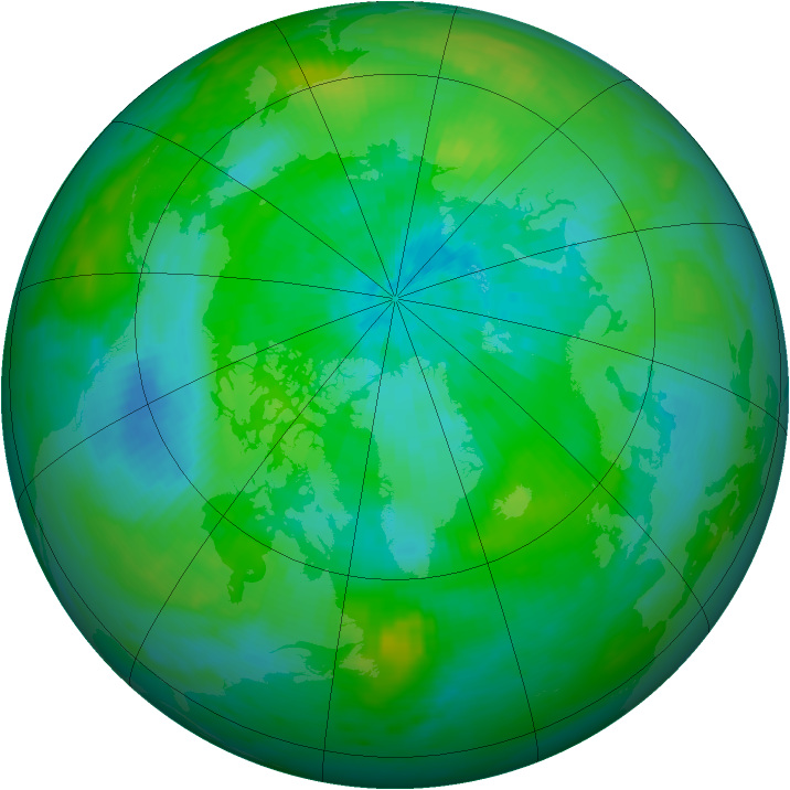 Arctic ozone map for 13 September 1979