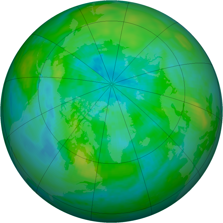 Arctic ozone map for 16 September 1979