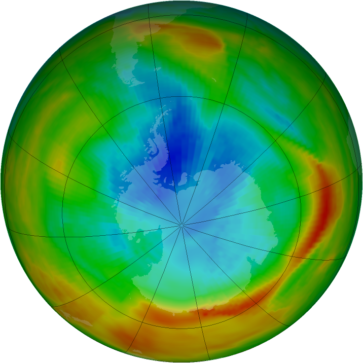 Antarctic ozone map for 17 September 1979
