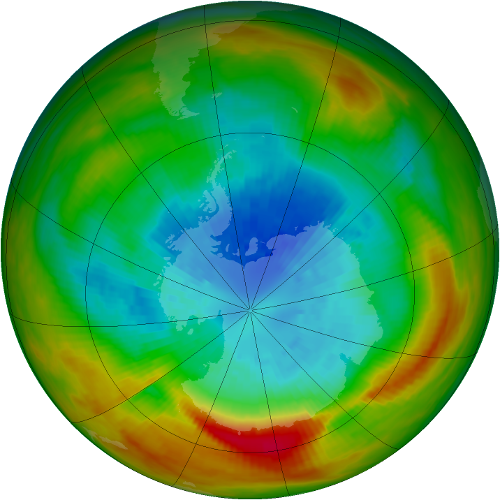 Antarctic ozone map for 18 September 1979
