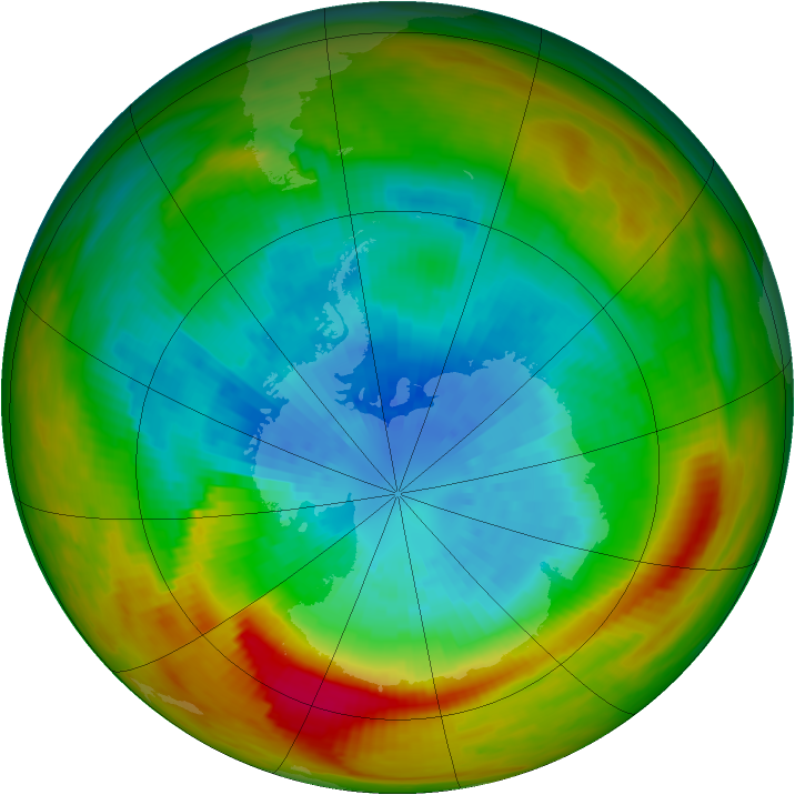 Antarctic ozone map for 19 September 1979