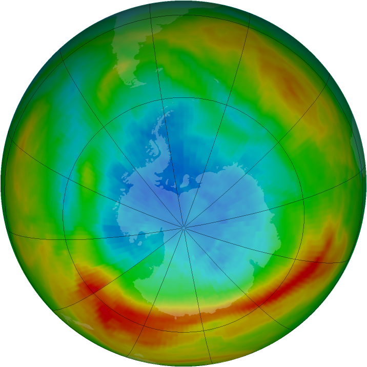 Antarctic ozone map for 20 September 1979