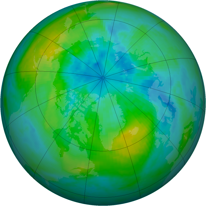 Arctic ozone map for 26 September 1979