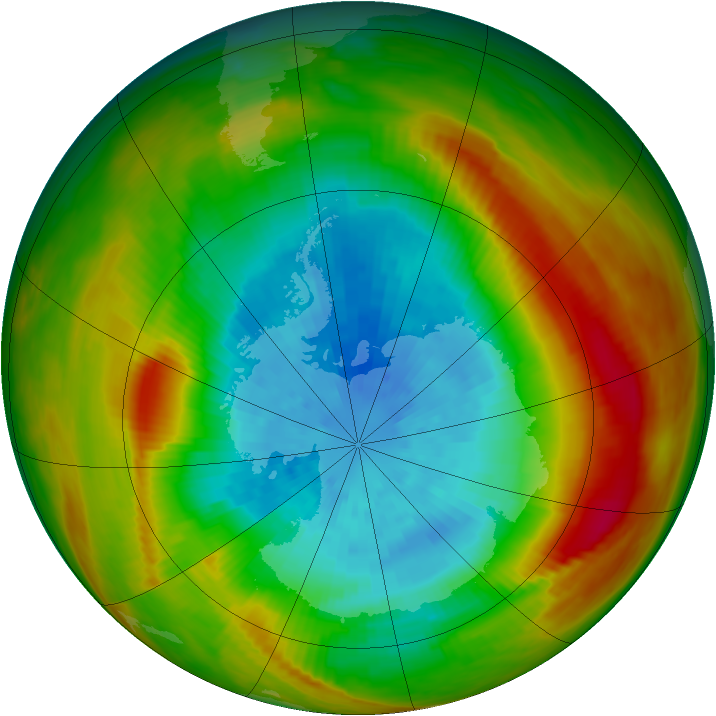 Antarctic ozone map for 26 September 1979