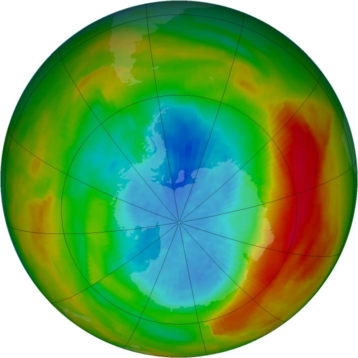 Antarctic ozone map for 28 September 1979