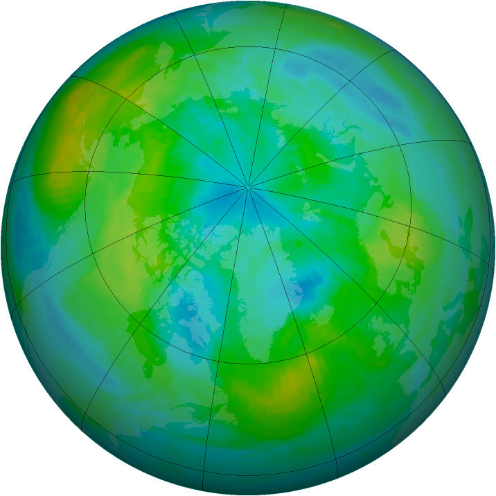 Arctic ozone map for 30 September 1979