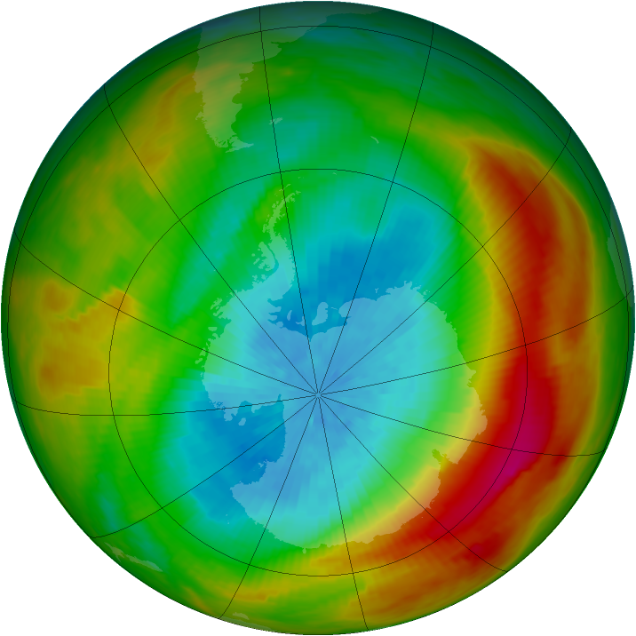 Antarctic ozone map for 30 September 1979