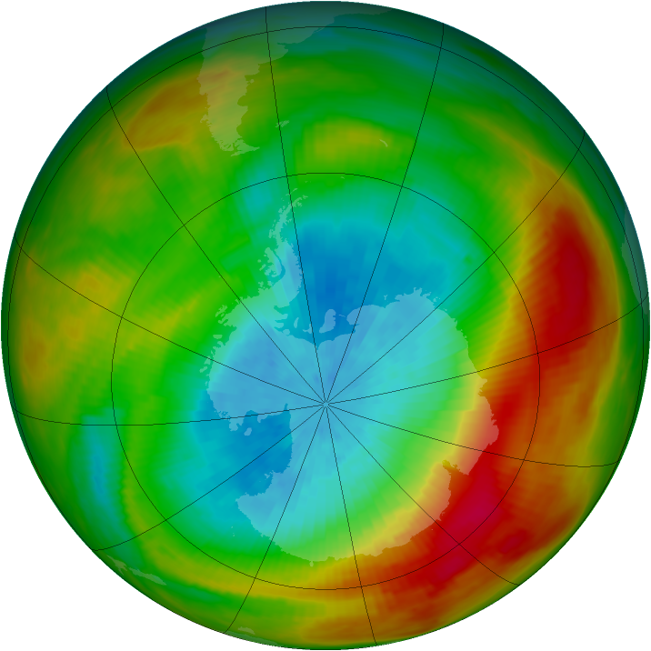 Antarctic ozone map for 01 October 1979