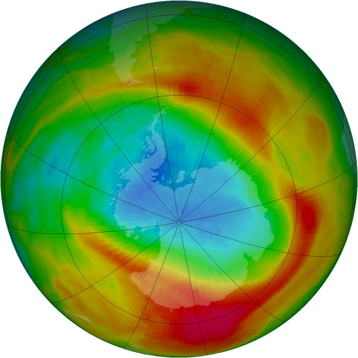 Antarctic ozone map for 08 October 1979