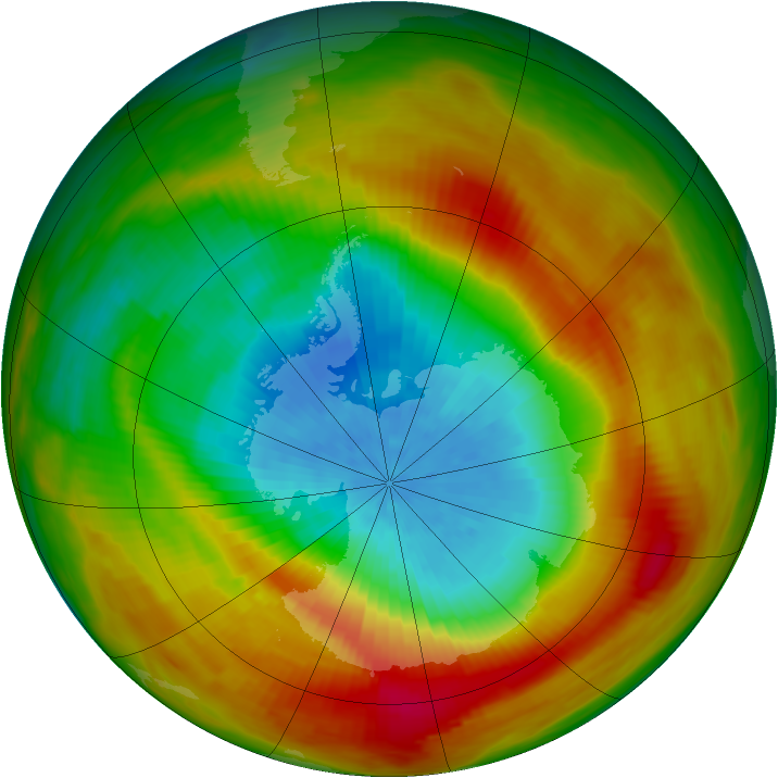 Antarctic ozone map for 09 October 1979
