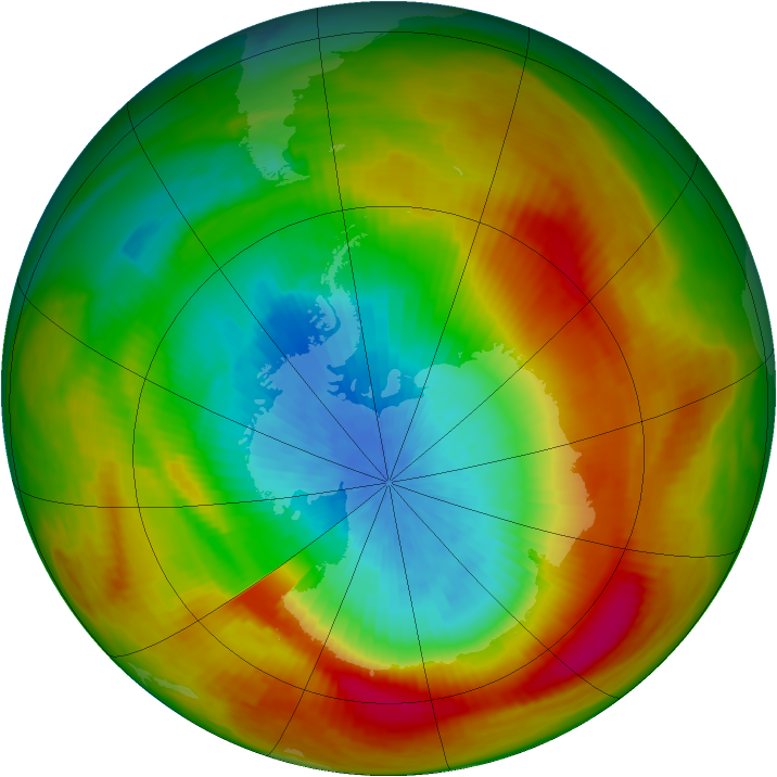 Antarctic ozone map for 11 October 1979