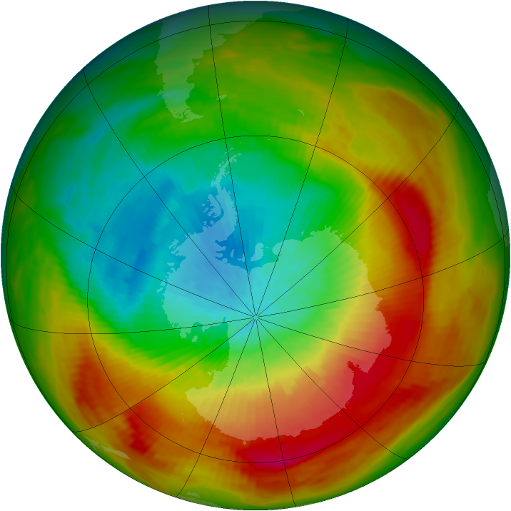 Antarctic ozone map for 16 October 1979