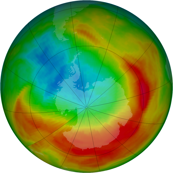 Antarctic ozone map for 17 October 1979