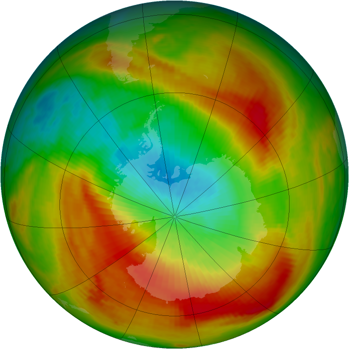 Antarctic ozone map for 21 October 1979
