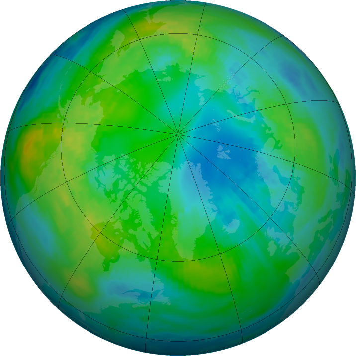Arctic ozone map for 23 October 1979