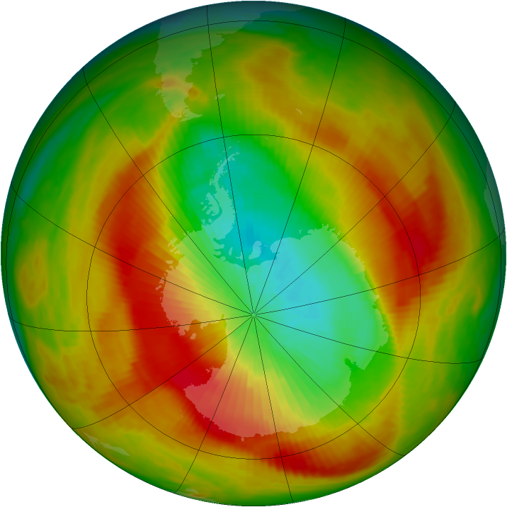 Antarctic ozone map for 23 October 1979