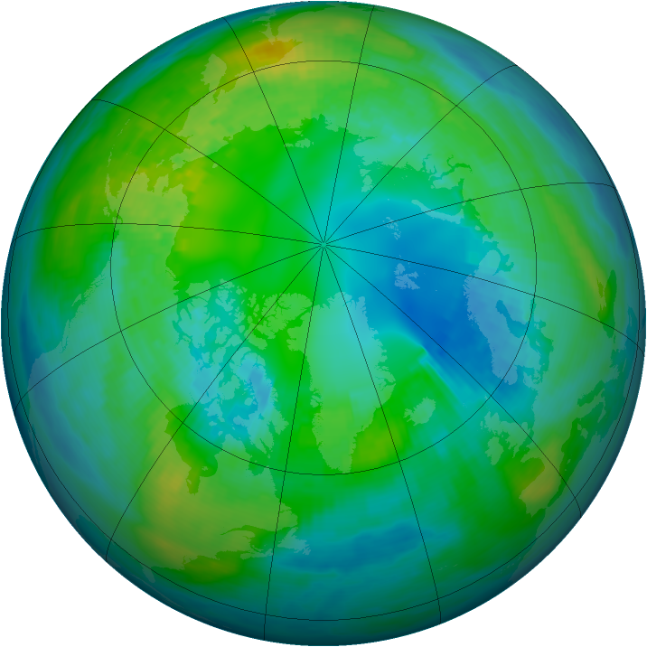 Arctic ozone map for 26 October 1979