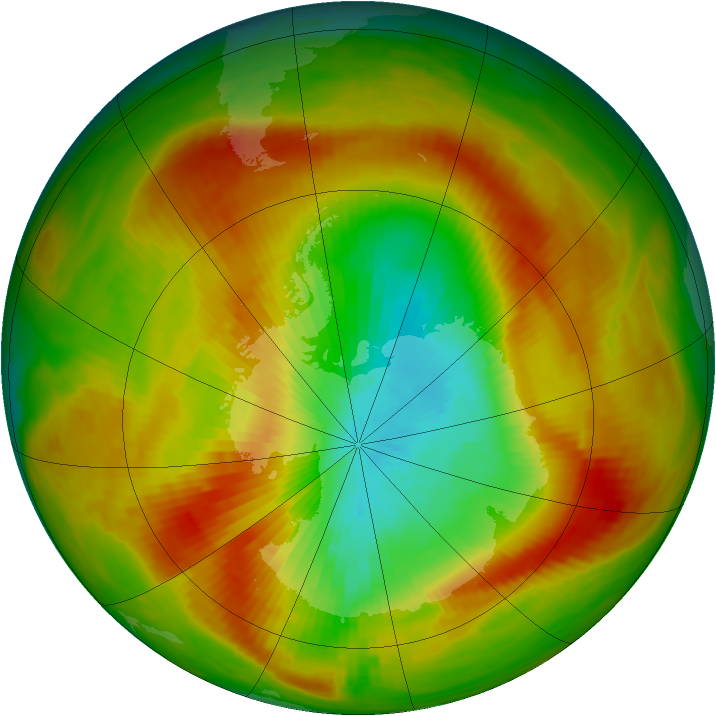 Antarctic ozone map for 26 October 1979