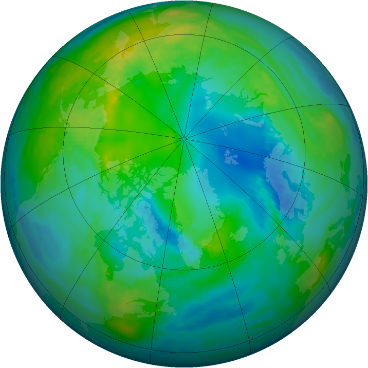 Arctic ozone map for 27 October 1979