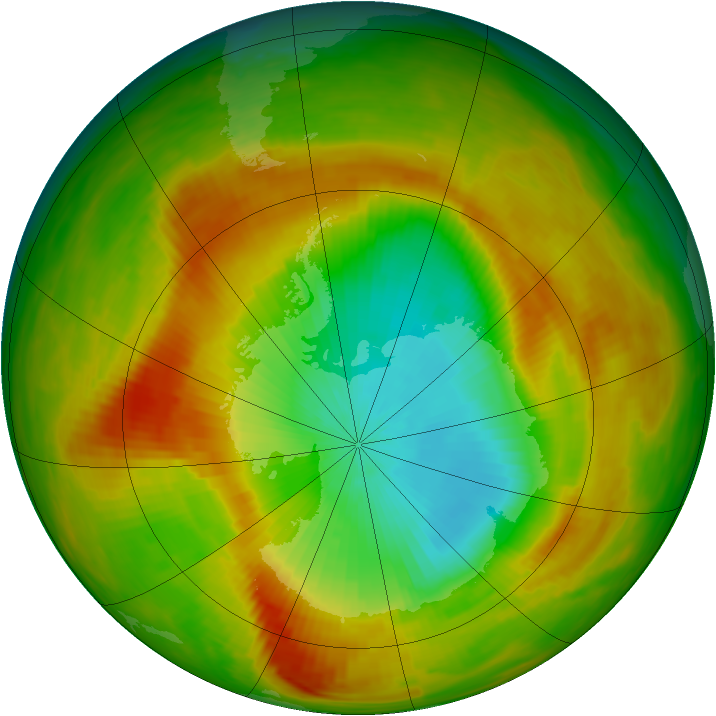 Antarctic ozone map for 05 November 1979
