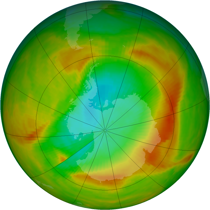 Antarctic ozone map for 11 November 1979