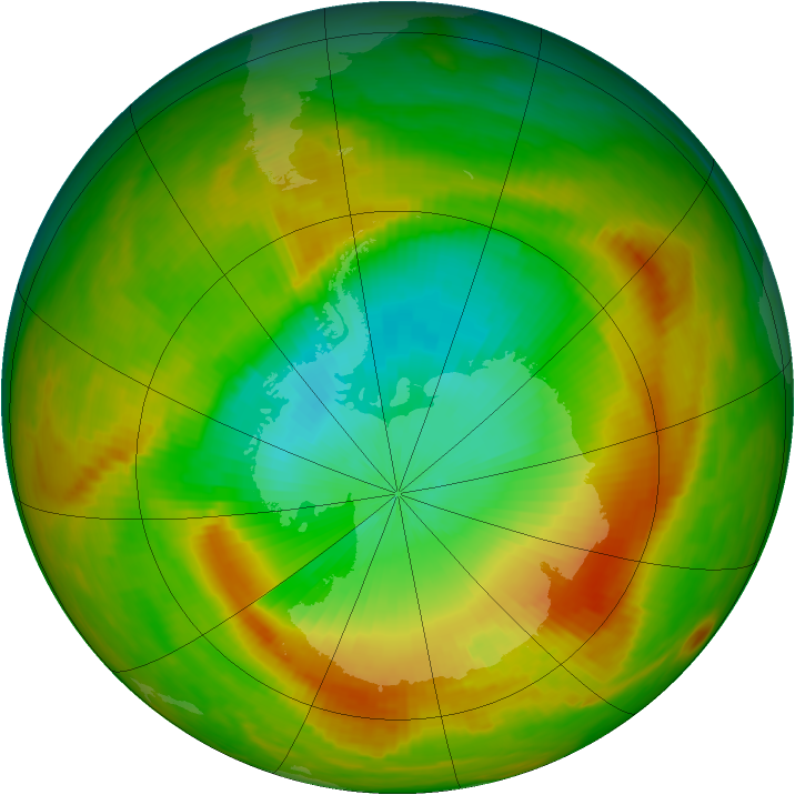 Antarctic ozone map for 12 November 1979