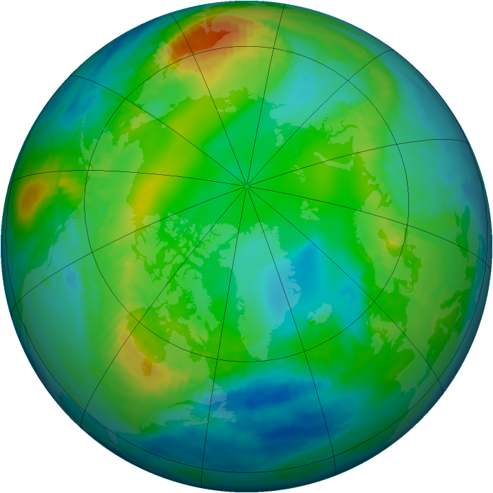 Arctic ozone map for 14 November 1979
