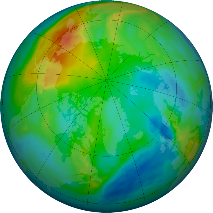 Arctic ozone map for 17 November 1979