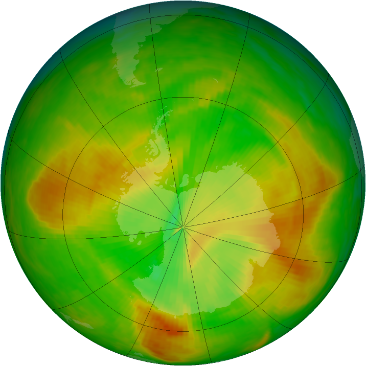 Antarctic ozone map for 20 November 1979