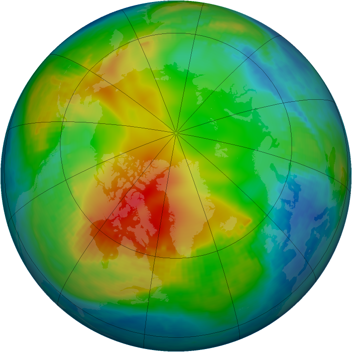 Arctic ozone map for 29 November 1979