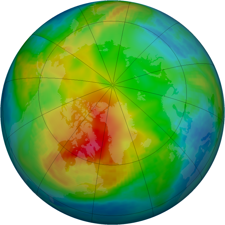 Arctic ozone map for 30 November 1979