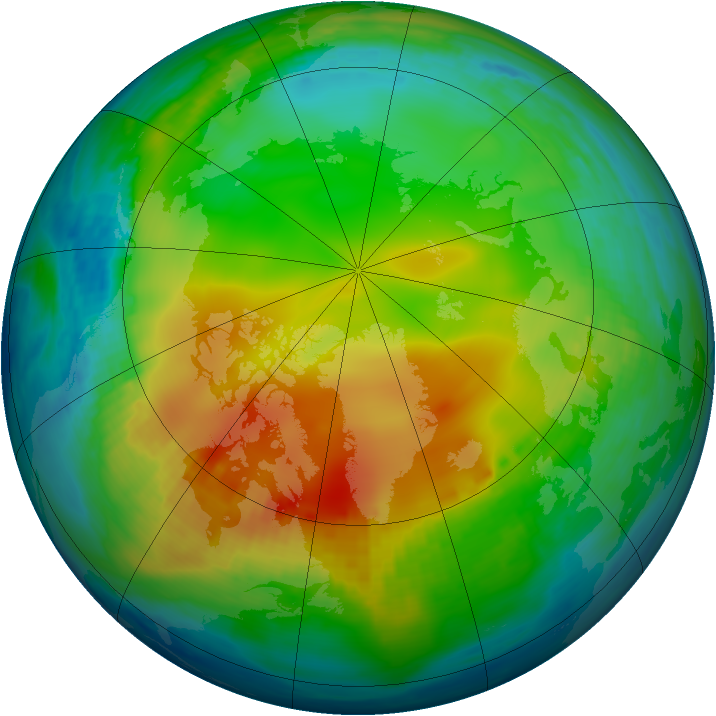 Arctic ozone map for 06 December 1979