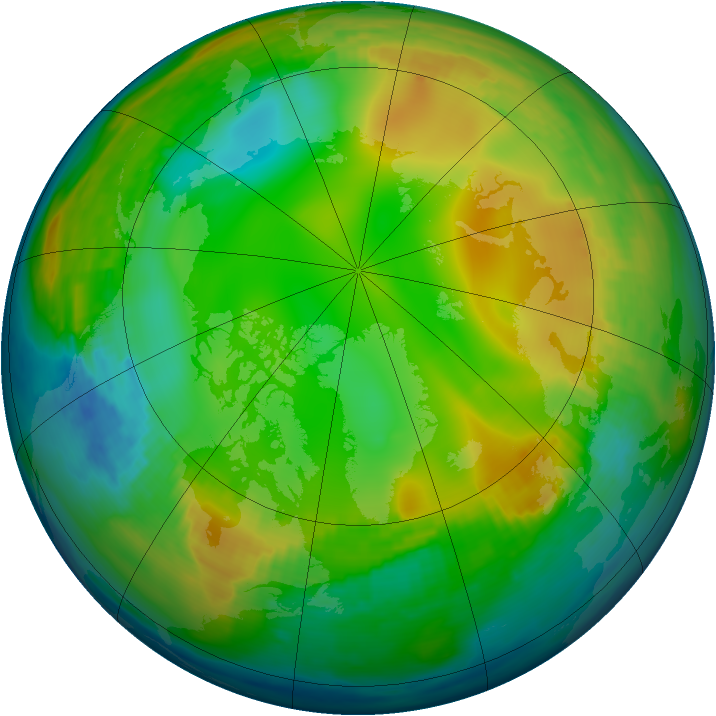 Arctic ozone map for 17 December 1979