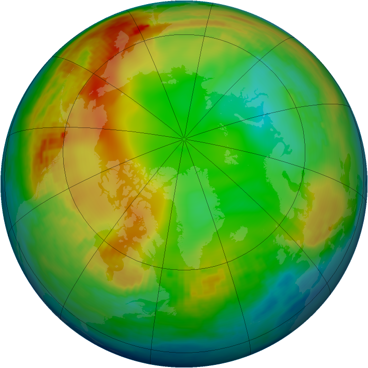 Arctic ozone map for 02 January 1980