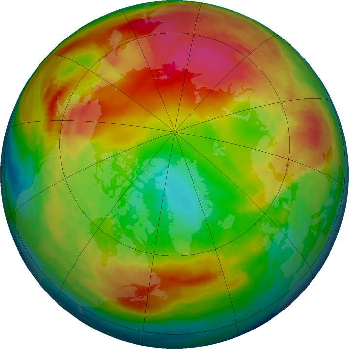 Arctic ozone map for 30 January 1980