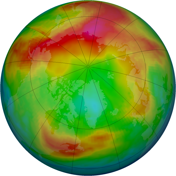 Arctic ozone map for 01 February 1980